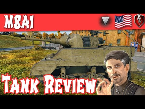 M8A1 Tank Review - American Tier 4 Tank Destroyer || World of Tanks Blitz ||