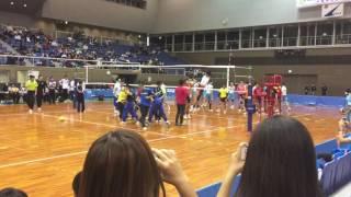 【バレーボール】大塚高校と清風高校のスパイク練習