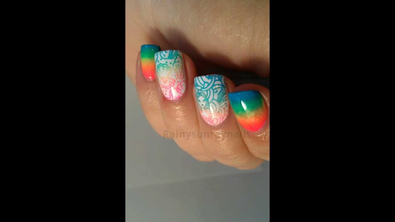 Rainbow Mermaid Nail Art Youtube