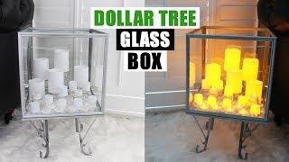 DIY DOLLAR TREE GLASS DISPLAY BOX DIY Home Decor Idea