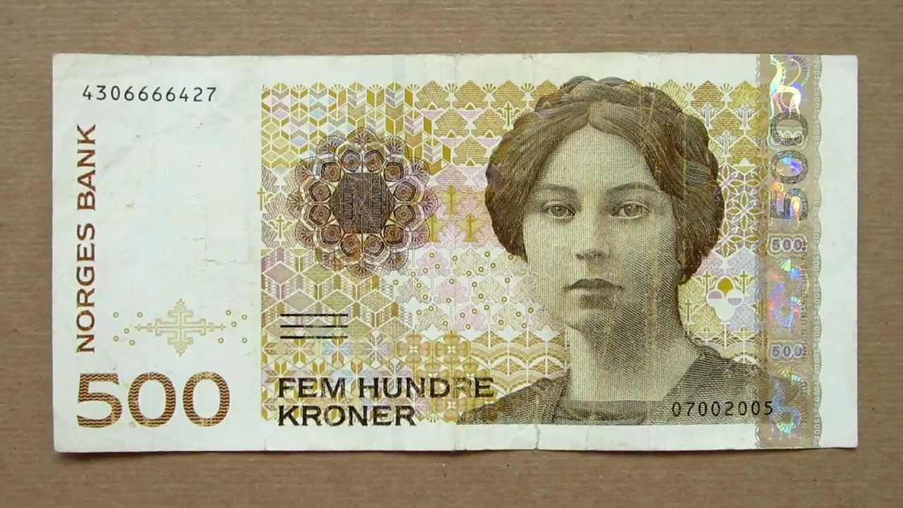 500 Norwegian Kroner Banknote Five Hundred 1999 Obverse And Reverse You