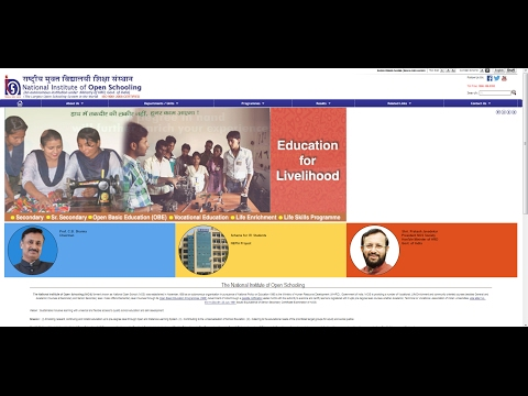 How To Get Admission In National Institute of Open Schooling  (NIOS) 2017-18