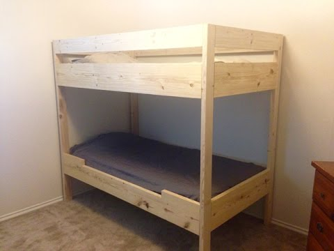 DIY BUNK BED FOR UNDER $100!!! - YouTube