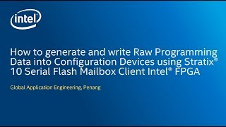 How to generate and write RPD using Stratix® 10 Serial Flash Mailbox Client Intel® FPGA
