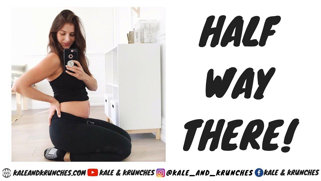 20 Weeks Pregnant   45 Minute Gym Routine   Body Update   VLOG