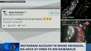 SAKSI: Instagram account ni Maine Mendoza, na-hack at hindi pa rin naibabalik