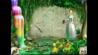 Barbie / Барби Лебединое озеро ( 14 уровень ) Одетта разрисовывает картины фей