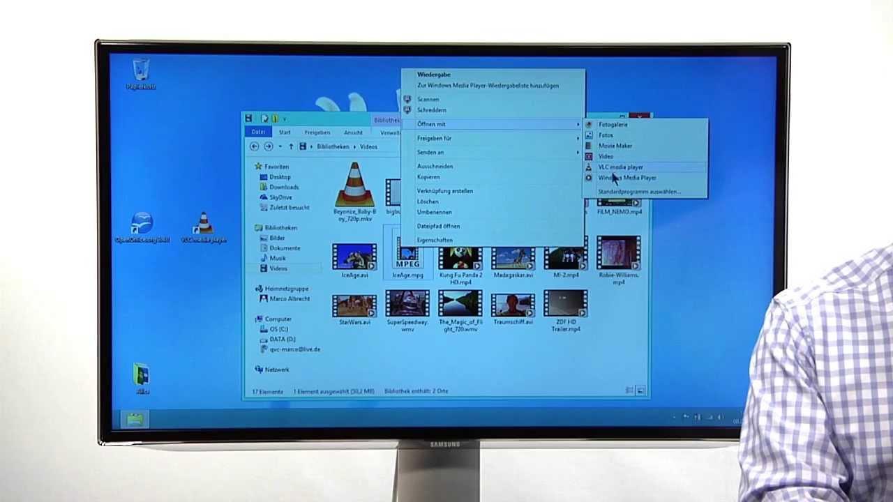 Windows 8 Videoanleitung 16 Tipps Vlc Player Wiedergabe Von