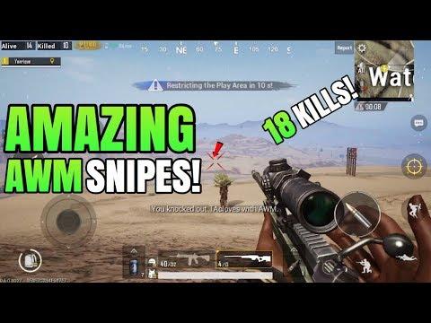 MOST AMAZING AWM Snipes! - Miramar (Desert Map)   Solo VS Squad   PUBG Mobile