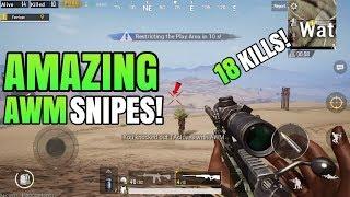 MOST AMAZING AWM Snipes! - Miramar (Desert Map) | Solo VS Squad | PUBG Mobile