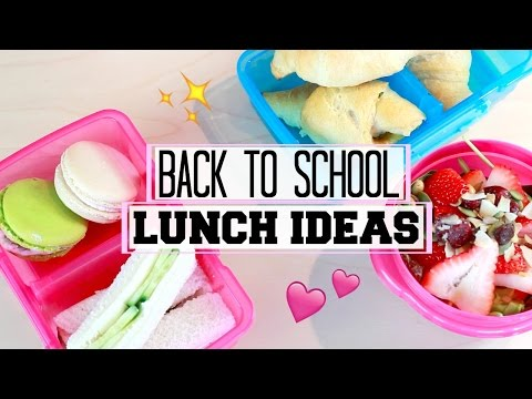 BACK TO SCHOOL LUNCH IDEAS!