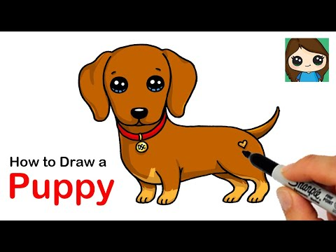 How to Draw a Dachshund Puppy Dog Easy