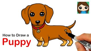 How to Draw a Dachshund Puppy Dog Easy