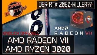 ENDLICH OFFIZIELL!! - AMD Radeon VII der RTX 2080Killer? | Technische Daten | Ryzen 3000 | DasMonty
