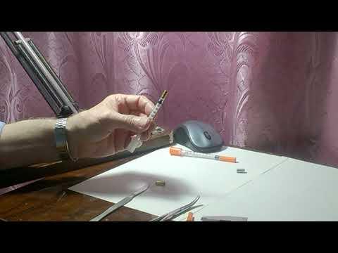 Шприц для подкалывания инсулина