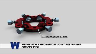 Wedge Style Mechanical Joint Restrainer for PVC Pipe - WaterworksTraining.com