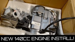 NEW 140cc Pit Bike Motor UNBOXING! | PitBike Rebuild Ep. 1