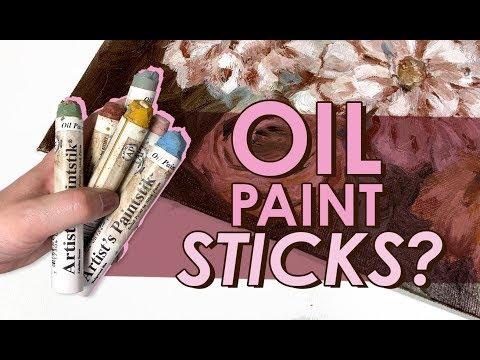 OIL PAINT IN A STICK!? | Trying WEIRD Art Supplies - Shiva Artist's Paintstik | Oil Painting