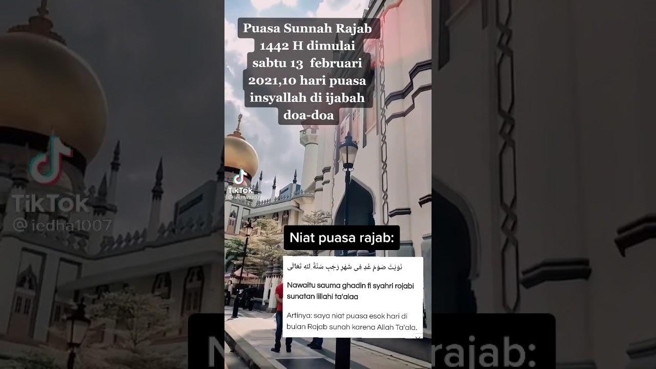 Puasa Sunah Rajab 144 H Youtube