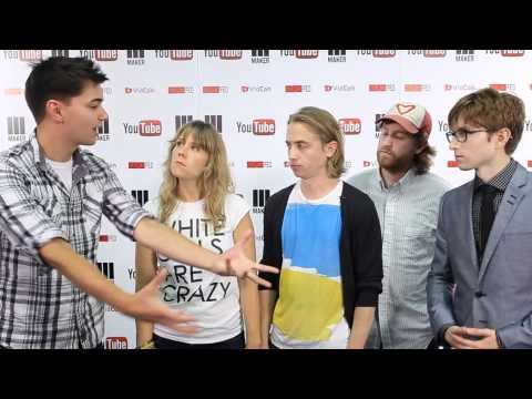 The Gregory Brothers backstage at Vidcon 2012