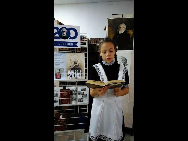 Изображение предпросмотра прочтения – ПолинаПрохорова читает произведение «Как хороши, как свежи были розы ...» И.С.Тургенева