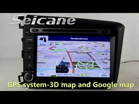 All in one 2012 Honda Civic gps radio navigation system with External 3g module mirror link airplay