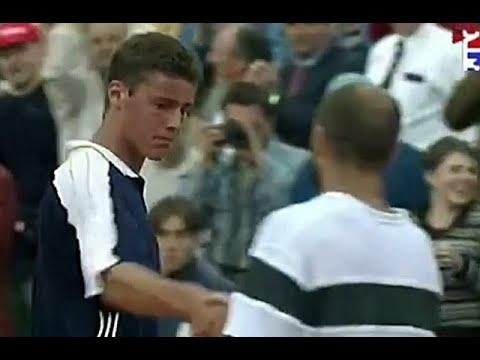 Marat Safin vs Andre Agassi 1998 Roland Garros R1 Highlights