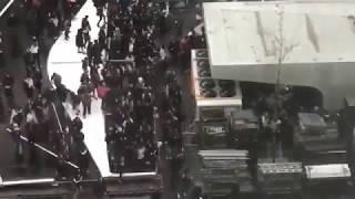 Des nouveaux incidents a Bruxelles,  Police attaquée par centaines d