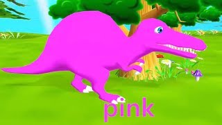 Play Dinosaur Painting Baby Learn Colors - Funny Colours For Baby Children