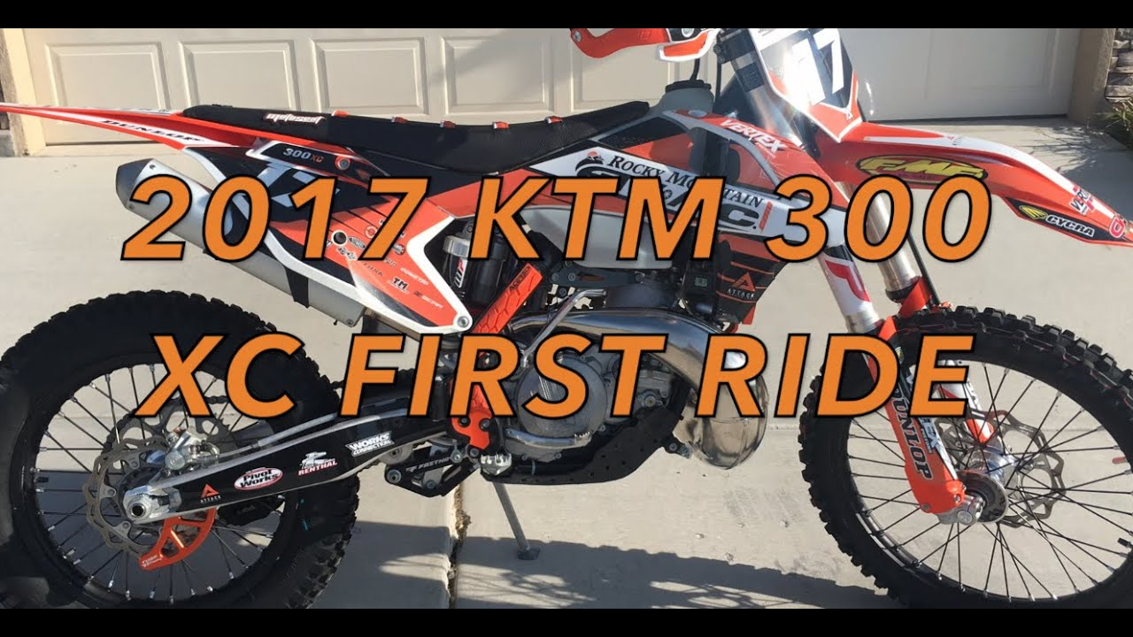 2017 ktm 300 xc first ride - youtube