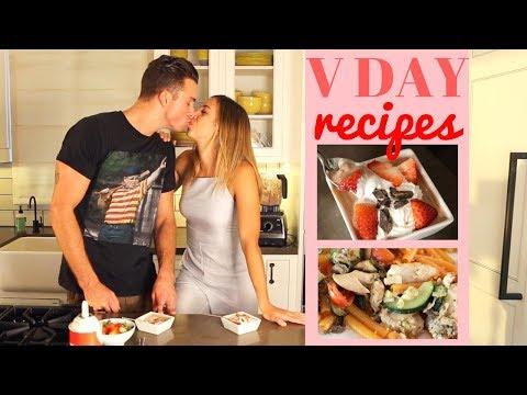 Valentine\'s Day Recipes | HEATLHY DINNER + DESSERT