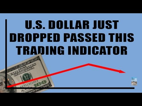 U.S. Dollar Just Fell Below THIS Top Technical Trading Indicator! 4 Month Low!