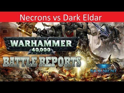 Warhammer 40k Batrep, TBMC, 1500pts Necrons vs Dark Eldar, Battle Report