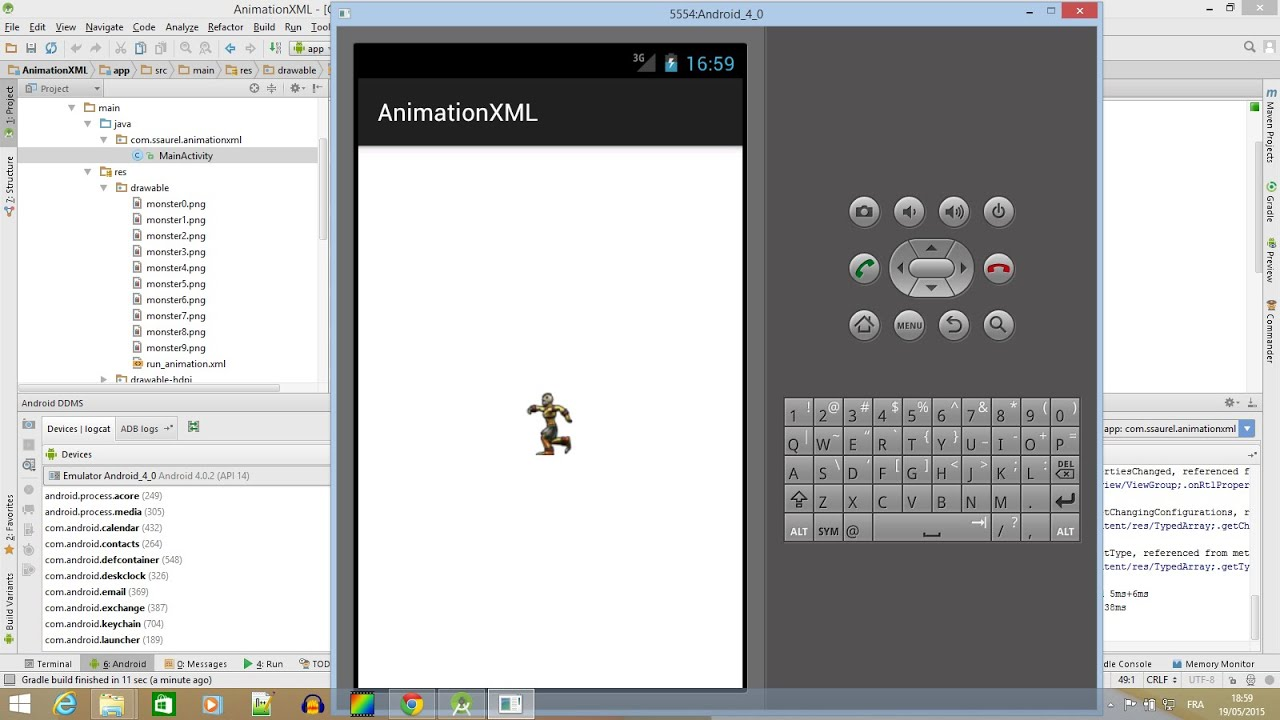 Learn to create frame animation with XML in Android - YouTube