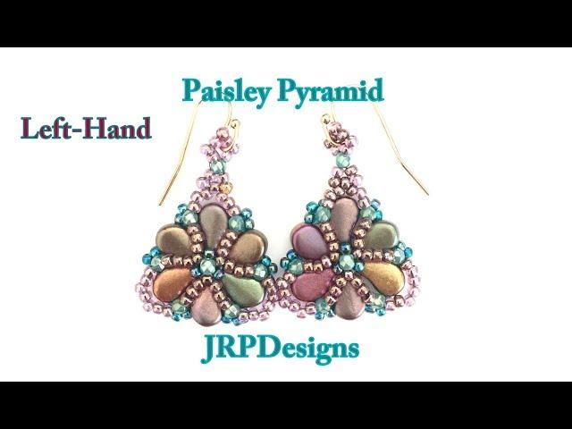 Paisley Pyramid Earrings--Intermediate Beading Tutorial