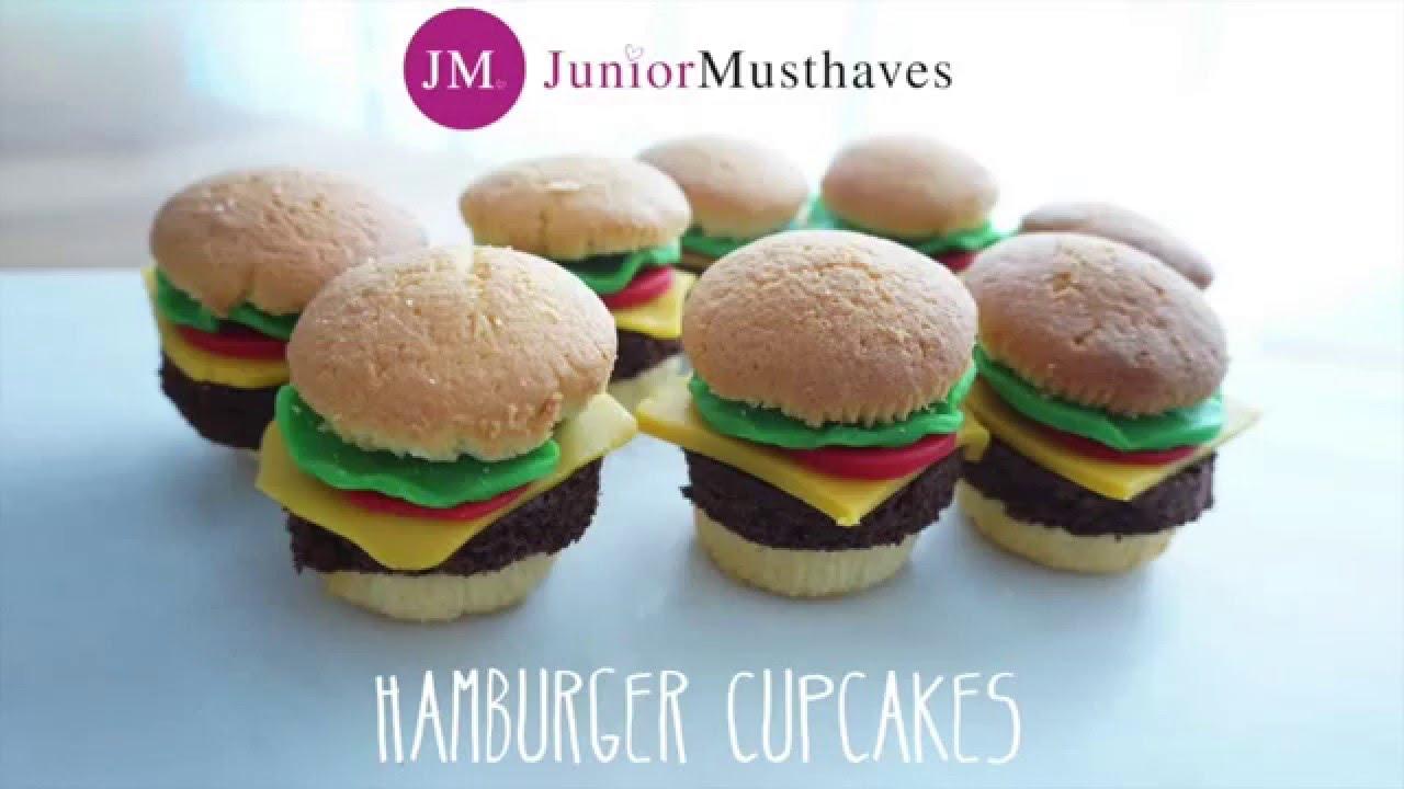 Traktatie Inspiratie Hamburger Cupcakes Youtube
