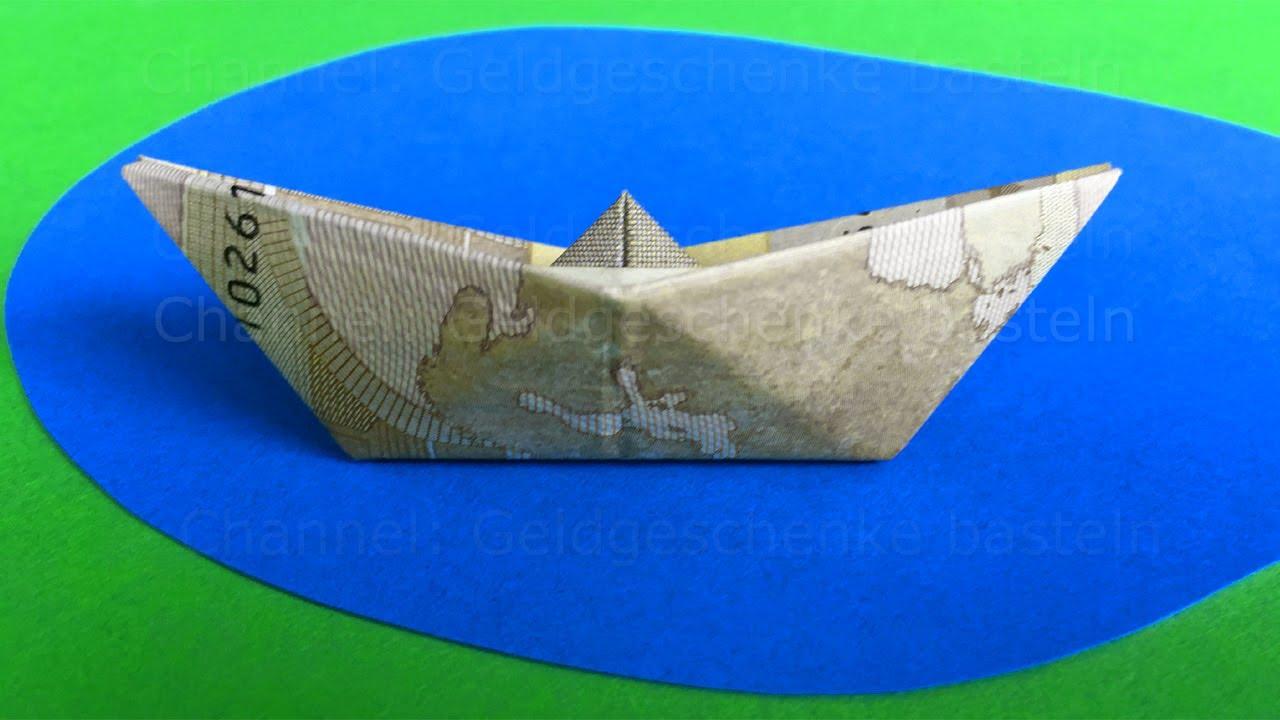 Geldscheine Falten Boot Geld Falten Schiff Einfaches Origami