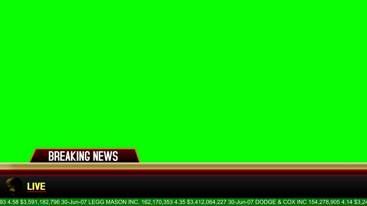 Breaking News Banner Green Screen Animation Youtube