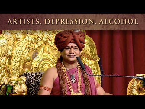 Why do most artists face depression and alcohol addiction?