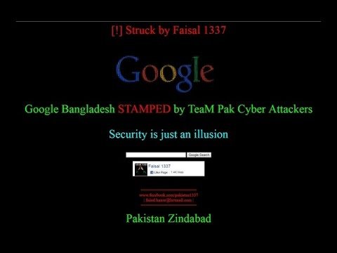 Google Bangladesh hacked by Pakistani hackers  December , 2016
