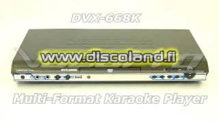 VocoPro DVX-668K Multi-Format Karaoke Player, Karaoke-soitin