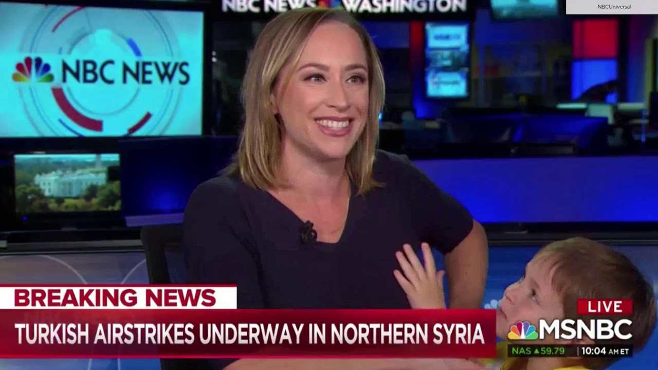 MSNBC Breaking News Interrupted By Reporter's Son