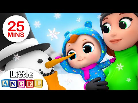 Free Download Winter Song | Fun In The Snow! | Nursery Rhymes By Little Angel Mp3 dan Mp4
