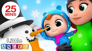 Winter Fun in the Snow | Winter Song + More Nursery Rhymes by Little Angel