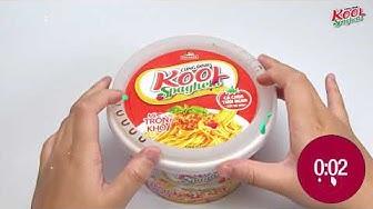 Hướng dẫn sử dụng Mì trộn Kool Spaghetti