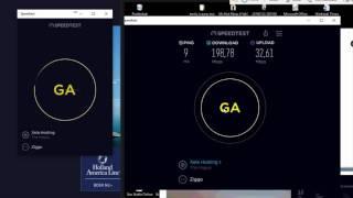 2 Actieve Ziggo modems op 1 coaxkabel (2017) speedtest