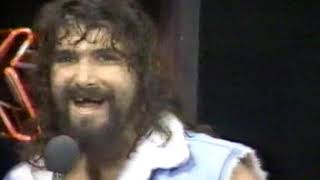 WCW NWA Terry Funk interviews Cactus Jack Manson 1989