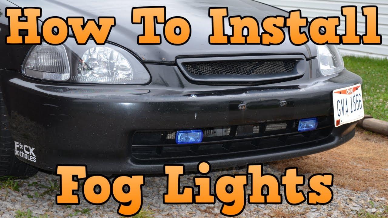 1996 Honda Civic - How To Install Fog Lights - YouTube