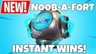 *NEW* NOOB-A-FORT IN FORTNITE! INSTANT WINS WHEN THROWN!