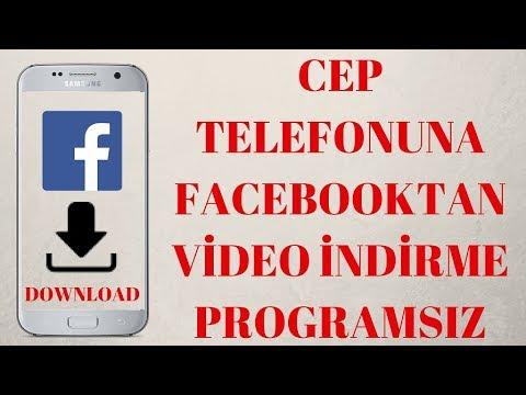 Cep Telefonuna Facebook Video İndirme Programsız (Android  için)